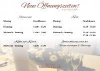 Neue Öffnungszeiten ab März!